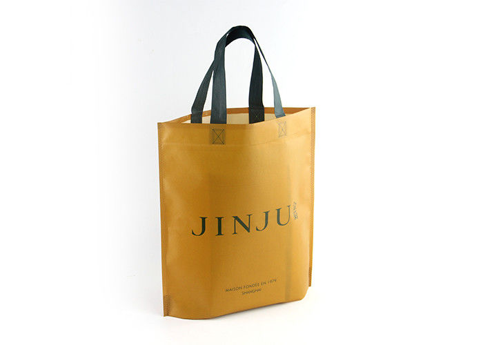Ultrasonic Recyclable Personalized Non Woven Tote Bags 80gsm With Custom Logo