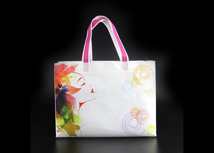 High Gloss Large Size Laminated Non Woven Shopping Bag With Durable Handle